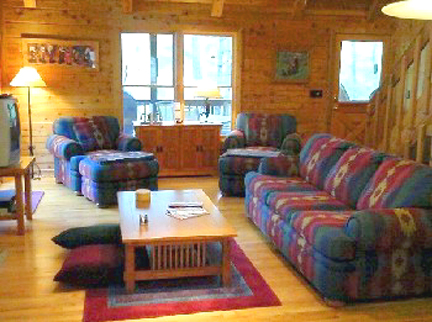 Laurel creek cabin a little paradise in mineral bluff ga for Living room queen creek